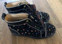 Christian Louboutin Black High Tops With Rainbow Strass. Size 39. New Never Worn