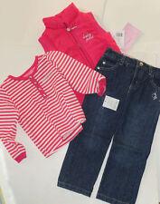 Nuevas Baby Phat 2 pieza traje 24 meses Rosa Chaleco jacketop Jeans Authentic