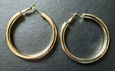 WHOLESALE GOLD FILLED 50MM  ROUND HOOPED EARRINGS INC FREE GIFTBAG.