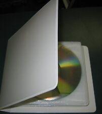 50  WHITE CD DVD 2 RING ALBUM CASE 20 DISC AND WHITE SLEEVE -MH11/SF006/500