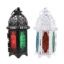 2Pcs Moroccan Lantern Metal Chandelier Tea Light or Votive Candle Holder