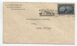 1898 5 cent Trans-Mississippi cover Philadelphia to Algeria [5850]