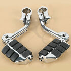 Chrome Long Highway Foot Pegs Fit For Harley Road King Street Glide 1 1/4