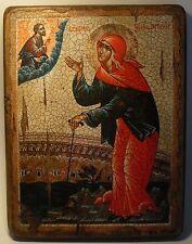 Handmade copy ancient ORTHODOX CHURCH ICON St Xenia of Petersburg 54S