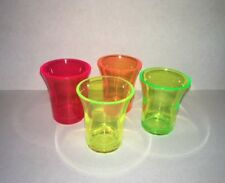 100 x Shot Glass Re-usable Neon colours 25ml CE Shot Glass