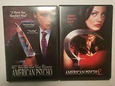 American Psycho 1 & 2 Horror Gore Movie Dvd Lot Vintage Slasher