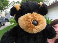 LARGE Tb Toy Trading Company Black Puppy Dog SOFT Plush Stuffed Animal Doll
