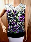 Ted Baker Womens Top Purple Green Butterfly Floral Size 0 1 3 4 RRP£59