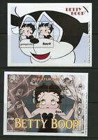MONGOLIA 1998 BETTY BOOP SC#2369/71 SHEET & TWO SOUVENIR SHEETS MINT NH