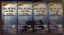 Kirkland Signature™ Fast Acting Lactase Enzyme Lactaid 4x Boxes/180 Caplets Each