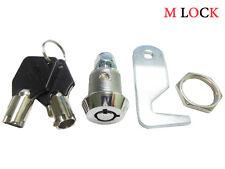 "Homak Tool box, 5/8"" Tubular Cam Lock replacement lock 90 degree hook cam 4 KEYS"