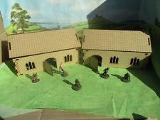 28mm 2x Gothic Bungalows Huts with removal roof Cut MDF Building Scenery House