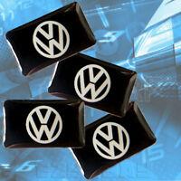 x4 VW Logo Car Sticker Badge Emblem Adhesive Interior Golf Scirocco Polo Tiguan