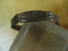 SOLID  COPPER  THERAPEUTIC  BRACELET  ETCHED  SOUTHWEST TRIBAL DESIGN