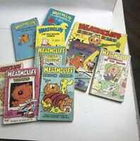 Lot Of  10 HEATHCLIFF Comic Books Paperback, By George Gately Vintage