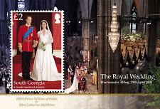 South Georgia 2011 Royal Wedding 1v MS SG 532 MNH