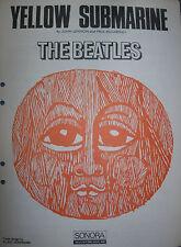 The Beatles RARE original Swedish sheet music Yellow Submarine Voorman cover