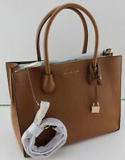 NEW AUTHENTIC MICHAEL KORS MERCER ACORN BROWN LG CONVERTIBLE TOTE HANDBAG WOMENS
