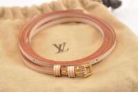 LOUIS VUITTON Leather Strap 128.5cm LV Auth ar266