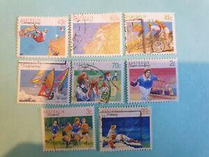 Australia mixed sports stamp set of 8