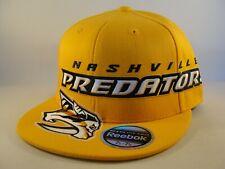 Nashville Predators NHL Reebok Flex Hat Cap Size L/XL Gold