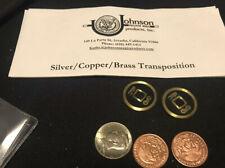 Johnson Products Copper Silver Brass Transposition Coin Set.  Never Been Used.