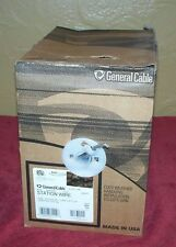 1 BOX General Cable Cat5e 4PR 24AWG Station Wire Gray 600 FT. Communication Bulk