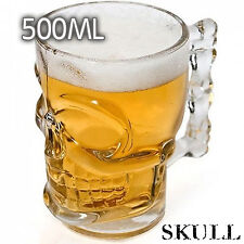 500ML Crystal Skull Head Glass Shot Cup For Bar Pub Party Whiskey Vodka Beer