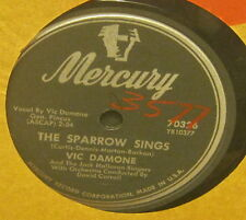 The Sparrow Sings VIC DAMONE Flexible 78 Phonograph Record