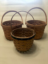 Set of Three Longaberger Baskets