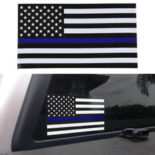 5 PCS Car Auto Window Sticker Decal Police Officer Thin Blue Line American Flag