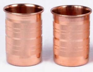 Natural Copper Handmade Set-2 Water cup Tumbler 300 Ml Ayurveda Health Benefit