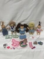 Cabbage Patch 4  Tiny Four- Five Inch  Soft Sculpture Dolls  OAA 1983 1984,1995