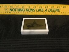"Unusual John Deere 2"" x 4"" Marble(Italian) Desk Paper Weight ""Civic Action Fund"""