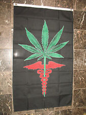 3x5 Marijuana Weed Medical Medicinal Flag 3'x5' Brass Grommets Premium Quality