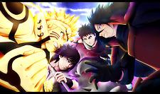 Poster A3 Naruto Shippuden Uzumaki Naruto Sasuke Uchiha Madara Uchiha Obito 01
