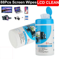 88pcs Cleaning Wipes Decontamination Cleaner for Laptop Monitor LCD TV Screen