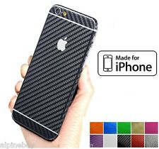 3D Textured Carbon Skin Sticker Decal Vinyl Cover Wrap For All Apple iPhone