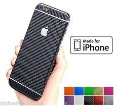 3D Carbono Con Textura Vinilo Pegatina Calcomanía cubierta de piel Envoltorio para todos los Apple iPhone