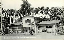 Vintage RPPC Real Photo Postcard Surinam Cabinet Building Dutch South America