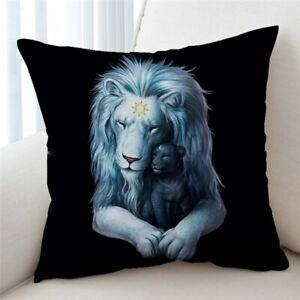 3D Child of Light Black Lion JoJoes Art Scatter Pillow Cushion Cover Sofa Bed