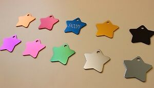 PET TAG STAR ID DOG TAGS PREMIUM FULLY ANODIZED DIAMOND ENGRAVED PERSONALIZED
