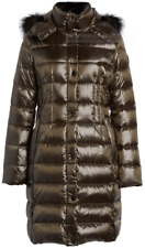 DONNA KARAN New York Down Puffer COAT Removable Hood Brown Color  Large $275