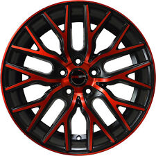 Set of 4 GWG Wheels 18 inch Black Red Face FLARE Rims fits 5x108 ET40 CB74.1