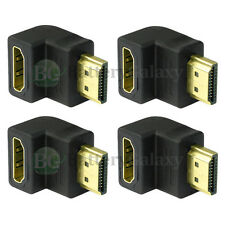 4 HDMI Right Angle 1.4 Adapter Male to Female 90 Degree for 1080p 3D TV LCD HDTV