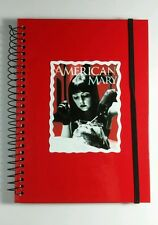 AMERICAN MARY KATHARINE ISABELLE MOUTH OPEN ART RED TV JOURNAL SPIRAL NOTEBOOK