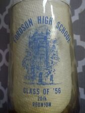 Fordson High School Class Of 1956 Glass Cup 20th Reunion Dearborn Michigan