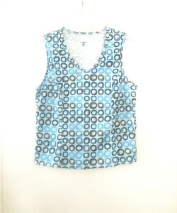 SHEBEEST Athletic Tank Top Blue Brown Green Women's Small Running Yoga Cycling