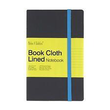 LUNA-piccolo panno foderato Notebook, Coperchio grigio-blu, nuovo