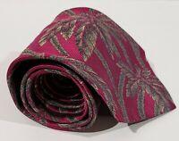 Burberry Of London Tie With Palm Tree Design 100% Silk